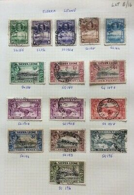 Stamps From The British Commonwealth Sierra Leone On A Album Page (Lot B/16)