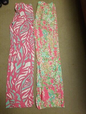 Lot of 2 Lilly Pulitzer  Georgia May Palazzo Pants Wide Leg Size M