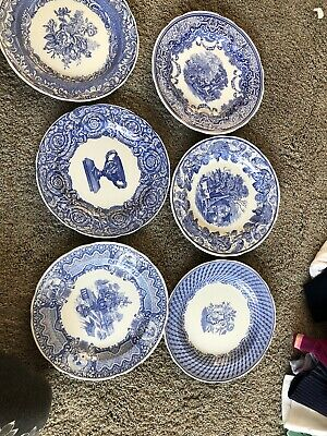 The Spode Blue Room Collection Set X6