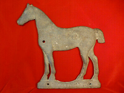 Exc Orig Antique Cast Iron Horse Windmill Weight Equestrian Equine American Farm