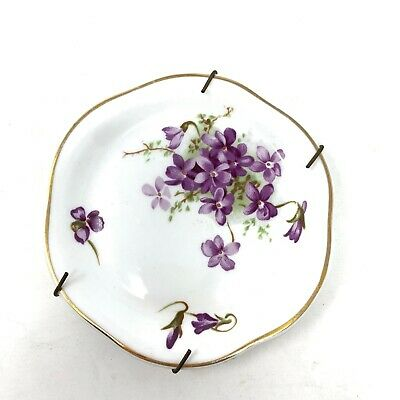"Hammersley Victorian Violets Small Plate 4 3/4"" Bone China Made In England"