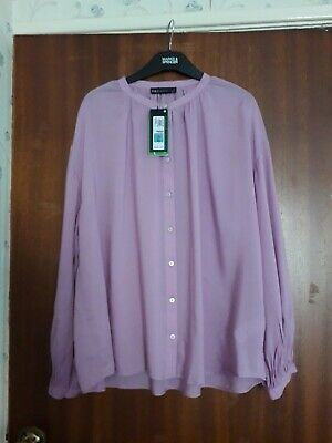 """M & S lilac pale mauve  blouse size 14 £29.50 new with tags 26"""" long"""