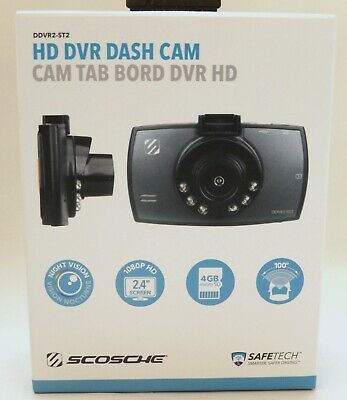 SCOSCHE HD DVR Dash Cam - Automotive Night Vision DDVR2ST