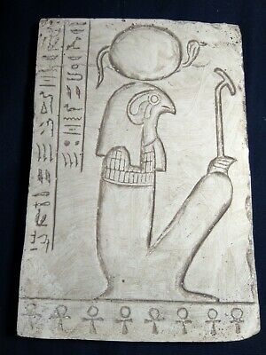 RARE ANCIENT EGYPTIAN ANTIQUE Stela God Hours Falcon Protection Key Life 1720 Bc