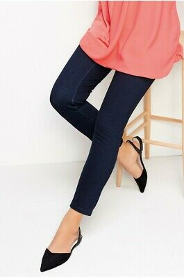 NEXT women maternity pregnancy blue jersey denim under bum leggings UK 14 £35