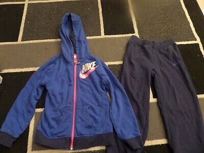 Girls Blue Nike Tracksuit Size 6-7 Yrs
