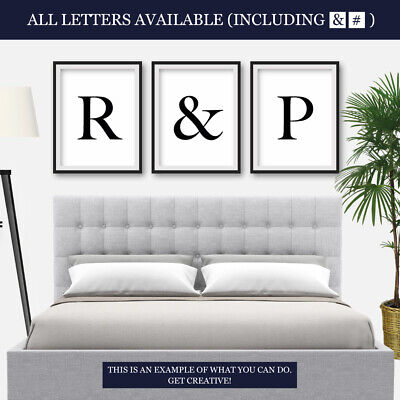 Letter Prints Bedroom Living Room Typography Home Decor Framed Wall Art Print