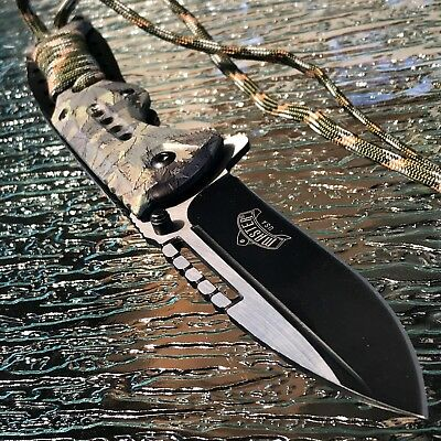"8"" MASTER USA SKULL ASSISTED TACTICAL OUT DOOR FOLDING POCKET KNIFE Open Assist"