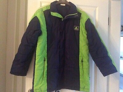 Adidas ladies  girls long padded jacket coat size 32/34