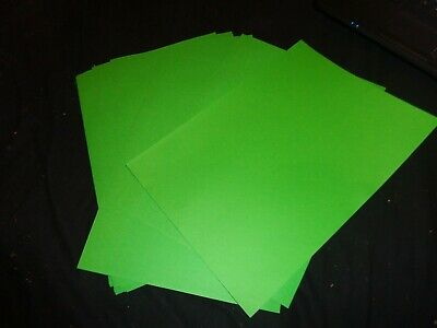 10x sheets of A4 green Coloured Bright Paper - crafts kids, hobby, art, activity