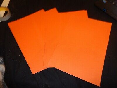 10x sheets of A4 orange Coloured Bright Paper - crafts kids, hobby, art,activity