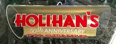 Rare Vintage Holihan's Beer Light Up Lit Sign Diamond Spring Brewing Lawrence Ma