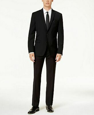 $550 Bar III Men's Black Slim Fit Active Stretch 2 PC Suit Pants 40S 32 x 30