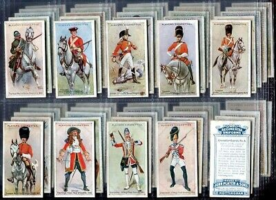 Tobacco Card Set, John Player, REGIMENTAL UNIFORMS, 1st Series, 1681 - 1912