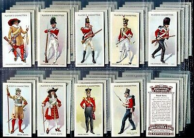 Tobacco Card Set, John Player, REGIMENTAL UNIFORMS, 2nd Series, 1650 - 1915