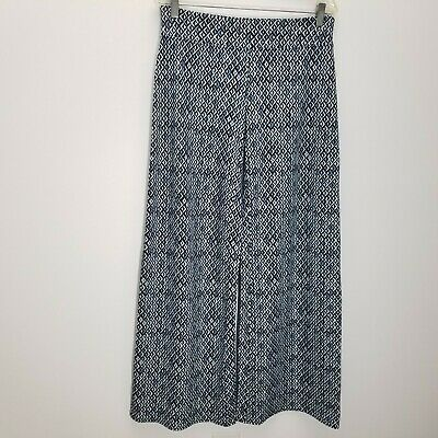 Soybu Womens Pants Size L Wide Leg Yoga Stretch Pull On Blue Athleisure Palazzo