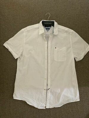 mens tommy hilfiger white shirt size XL SLIM FIT WORN ONCE
