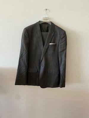 Country Road Wool Men's Grey Jacket and Pants Suit - Size 42