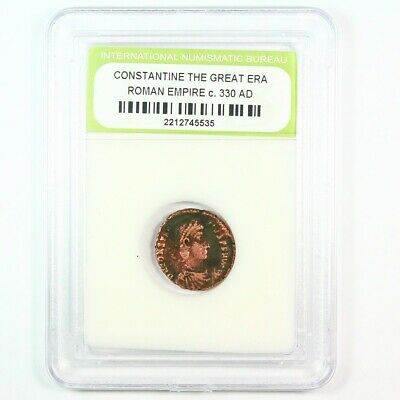 Slabbed Ancient Roman Constantine the Great Coin c. 330 AD Exact Coin Shown 6243