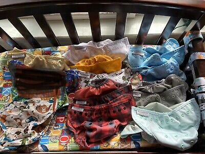 Lot Of 12 Buttons OS Cloth Diaper Covers