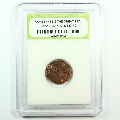 Slabbed Ancient Roman Constantine the Great Coin c. 330 AD Exact Coin Shown 6366
