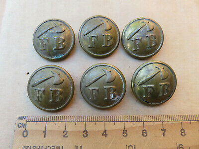 Old Antique Stokes Melbourne Made Australian Fire Brigade Buttons