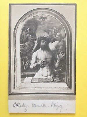 Post Card Photo Tableau Coll. ESSONVILLE BLIGNY Jésus-Christ Sang Calice Anges