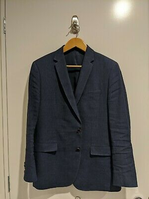Mens Country Road Blazer Sports Jacket Dark Blue Size 42 Contemporary Fit
