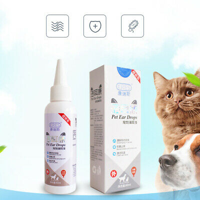 Cats Dogs Ear Cleaner Pet Ear Drops Liquid For Infections Control Yeast Mites