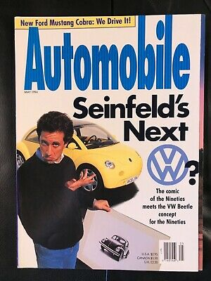 Automobile Magazine / May 1994 / Featuring Jerry Seinfeld & VW Prototype / NEW!