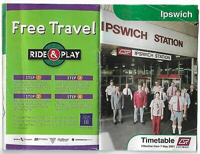Rosewood/Ipswich Timetable From 7 May 2001 Used