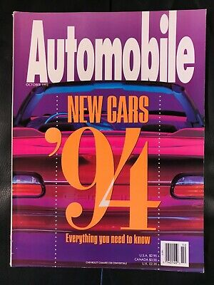 Automobile Magazine / Issue October 1993 / NEW!