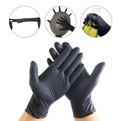 100pcs/box Disposable Nitrile Gloves Latex Powder Free TATTOO MECHANIC VALETING