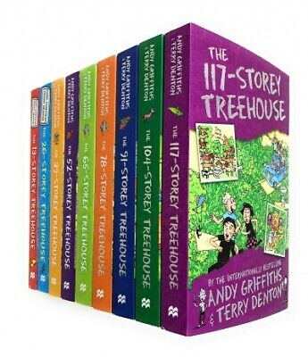 Andy Griffiths Treehouse Collection 9 Books Set - 13 Storey, 26 Storey, 39 Store