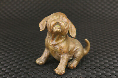 chinese old  bronze hand carving dog statue collectable figure noble gift