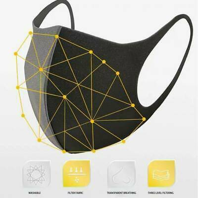 1-10 Breathable Face Mask Anti-Haze Mouth Washable Facial Skin Protection Shield