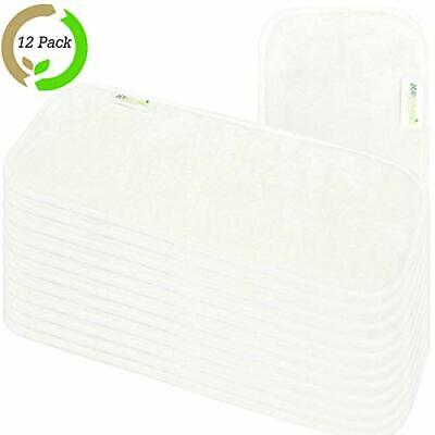 Wegreeco Reusable Soft 4 Layers 12 Pack Bamboo Inserts for Baby Cloth (Bamboo)