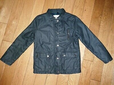 *River Island* Gorgeous Boys Green Brown Wax Style Jacket Coat Winter