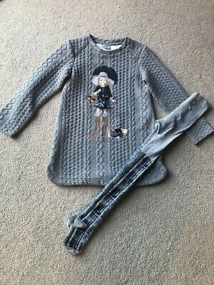 girls mayoral Age 4 Dress And Tights
