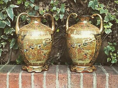 Satsuma Pair Of Vases Large In Size