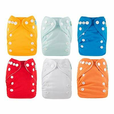 ALVABABY Newborn Cloth Diapers Pocket for Less Than (All in one|Pack03)
