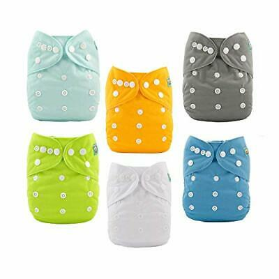 ALVABABY Baby Cloth Diapers One Size Adjustable (All in one|Sets 6bm98)