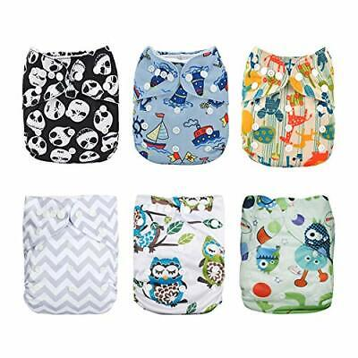 ALVABABY Baby Cloth Diapers One Size Adjustable (6dm12|with microfiber inserts)