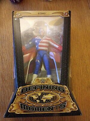 Wwe Wwf Wcw Sting Defining Moments Mattel Exclusive Figure New
