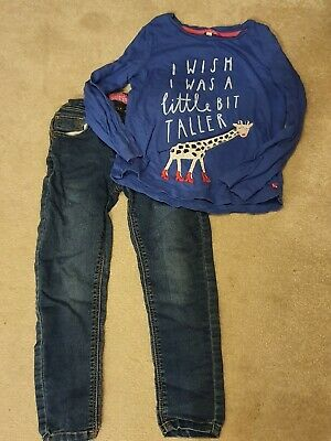 JOULES Girls Top And Jeans 5-6 Years
