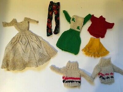 Lot Of Vintage 1960s Handmade  Barbie Ken Clothes Clothing 7 Pieces
