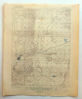Rock Springs Wyoming Vintage USGS Topo Map 1910 Reliance 15-minute Topographic