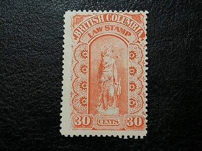 Canada Stamp #BCL10 British Columbia 30 Cents Law Stamp Revenue BC #A225