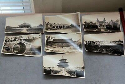 Lot Of 7 Antique China Peking Landscape Chinese Old Architecture Photo