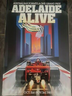 AUSTRALIAN FORMULA 1 GRAND PRIX ADELAIDE S.A Advertising Sticker 7.5cmx9.5cm